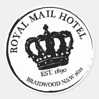 王室のなロゴのステッカー ラウンドシール