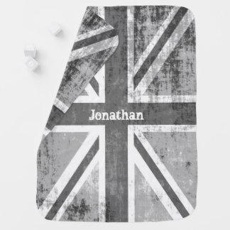 王室のなロックスターのグランジな灰色イギリスの旗 ベビー ブランケット