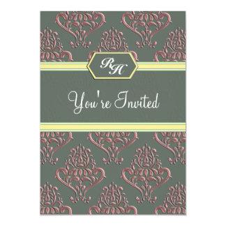 王室のなヴィンテージのピンクのnのYellowBabyのシャワーの招待状 カード