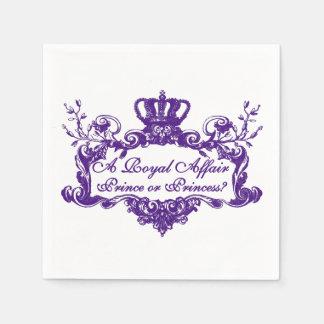 王室のな出来事の性はナプキンを明らかにします スタンダードカクテルナプキン