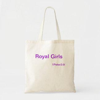 王室のな女の子の食料雑貨の戦闘状況表示板 トートバッグ