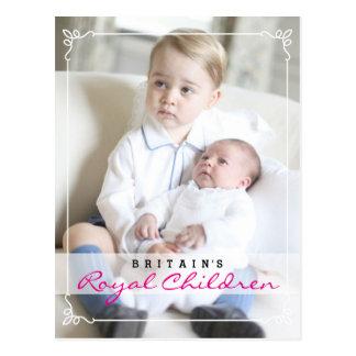 王室のな子供-ジョージ及びシャーロット ポストカード
