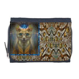 王室のな猫のアニマルプリントの財布