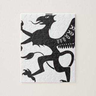 王室のな獣によって飛ぶcatbird ジグソーパズル