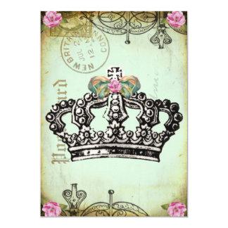王室のな王冠の豪奢な招待状 カード