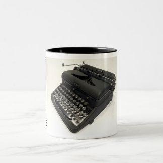 王室のな矢のタイプライター ツートーンマグカップ