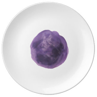 王室のな紫色のプレート 磁器プレート
