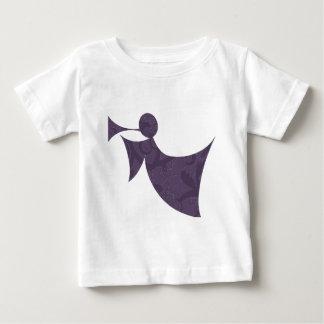 王室のな紫色の天使-ベビーのTシャツ ベビーTシャツ