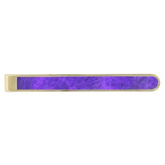 王室のな紫色の紫色のタイ・バー 金色 ネクタイピン