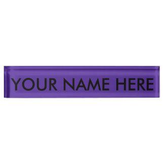 王室のな紫色(無地)の~ デスクネームプレート