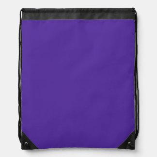 王室のな紫色(無地)の~ ナップサック