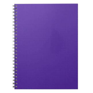 王室のな紫色(無地)の~ ノートブック