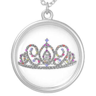 王室のな結婚式または花嫁のティアラ シルバープレートネックレス
