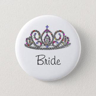 王室のな結婚式または花嫁のティアラ 5.7CM 丸型バッジ