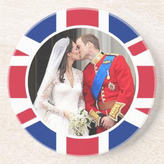 王室のな結婚式 サンドストーンコースター