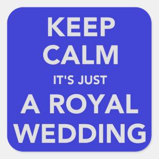 王室のな結婚式- Kate及びウィリアム- 2011年4月29日 スクエアシール