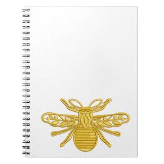 王室のな蜂、刺繍の模造 ノートブック