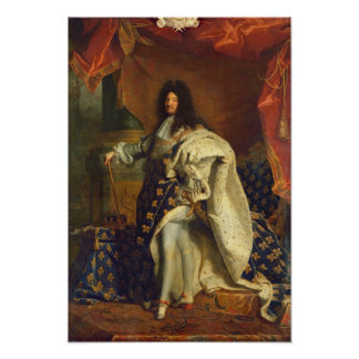 王室のな衣裳のルイ14世、1701年 ポスター