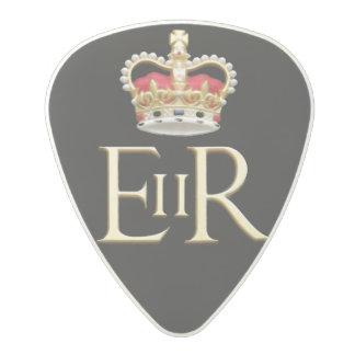 王室のな記念祭の記章 ポリカーボネートギターピック