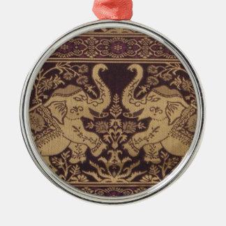 王室のな象のインドの複雑な絹のアートワーク メタルオーナメント