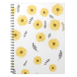 王室のな赤ん坊の花模様 ノートブック