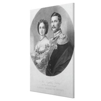 王室のな高度の結婚式ポートレート キャンバスプリント