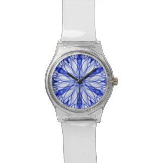 王室のな、中間の青いフラクタル 腕時計