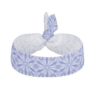 王室のな、中間の青い冬の雪片のフラクタル ヘアタイ