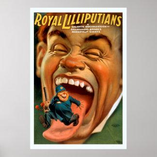 王室のなLilliputiansのヴィンテージポスター ポスター