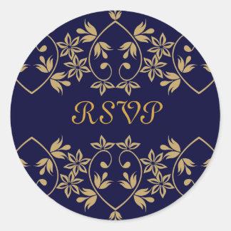 王室のなRSVPのステッカー ラウンドシール