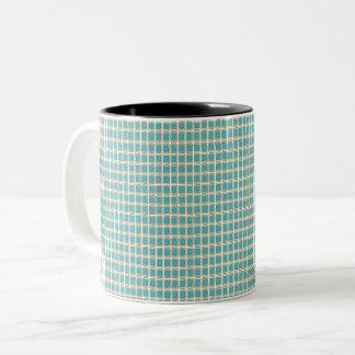 王室の孔雀の生地(c)のAG_Multiスタイル及び色 ツートーンマグカップ