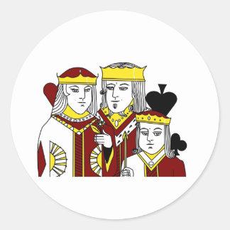 王室の肖像画のトランプゲームのトランプのポーカー項目 ラウンドシール