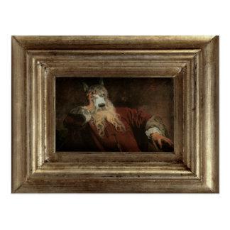 王室のDog Framed Portrait Postcard主 ポストカード