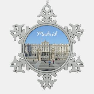 王宮、マドリード スノーフレークピューターオーナメント