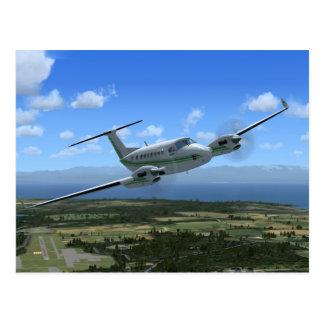 王空気ターボプロップ航空機 ポストカード