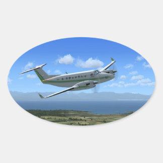 王空気ターボプロップ航空機 楕円形シール