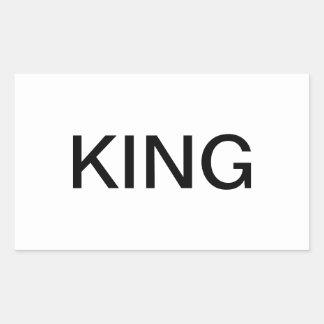 王 長方形シール