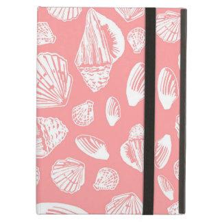 珊瑚および白い貝殻パターンiPadの箱