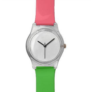 珊瑚および緑May28thの腕時計 腕時計