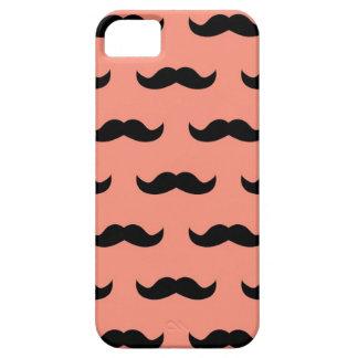 珊瑚および黒い口ひげパターン iPhone SE/5/5s ケース