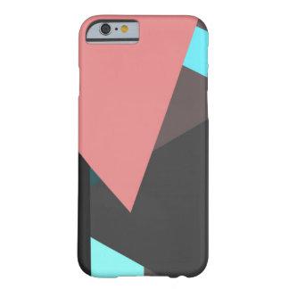 珊瑚および黒 BARELY THERE iPhone 6 ケース
