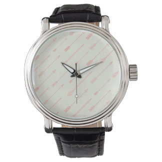珊瑚によって輪郭を描かれる矢パターン 腕時計