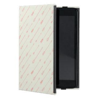 珊瑚によって輪郭を描かれる矢パターン iPad MINI ケース