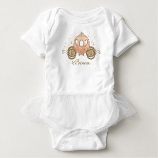 珊瑚のおとぎ話のプリンセスの女の赤ちゃんのチュチュ ベビーボディスーツ