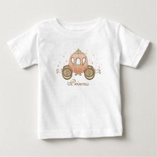 珊瑚のおとぎ話のプリンセスの女の赤ちゃんのTシャツ ベビーTシャツ