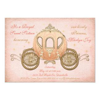 珊瑚のおとぎ話のプリンセスの菓子16の招待状 カード