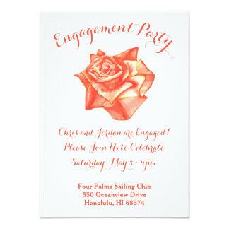 珊瑚のばら色の結婚式の婚約パーティの招待状 カード