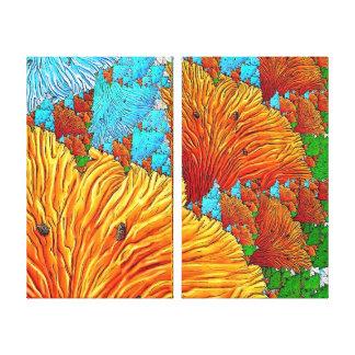 珊瑚のイラストレーション キャンバスプリント
