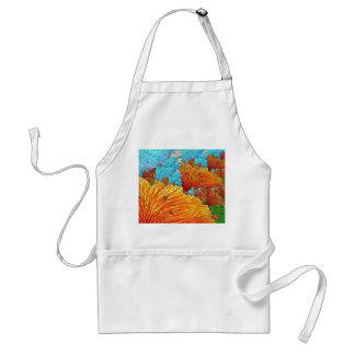 珊瑚のイラストレーション スタンダードエプロン