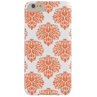 珊瑚のエレガントなダマスク織 BARELY THERE iPhone 6 PLUS ケース